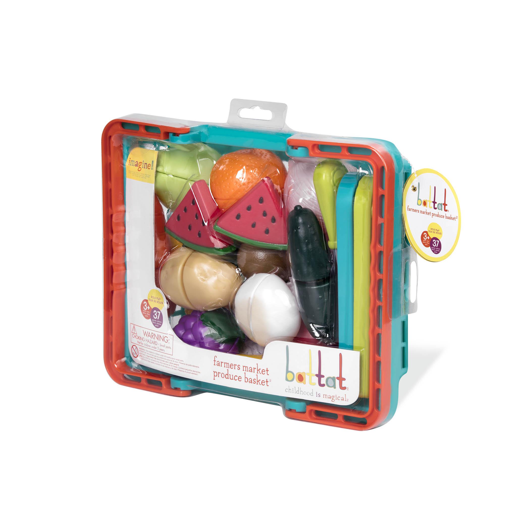 Toy Food Set Velcro Play Food Battat