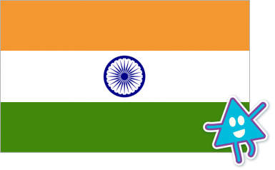Flag of India with triangular character.