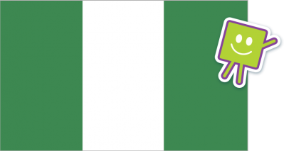 Flag of Nigeria with square character.