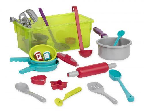 Toy kitchen set.