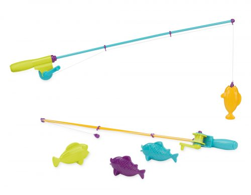 Toy fishing rods and toy magnetic fish.