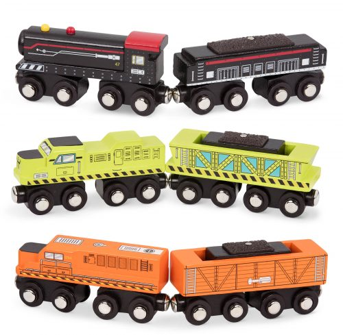 Toy trains.