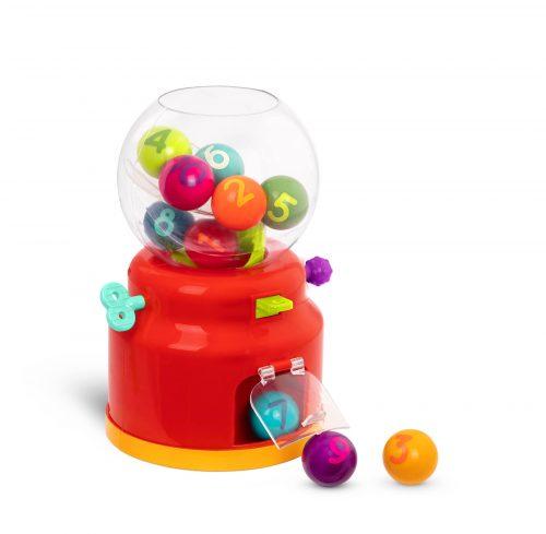 Gumball machine toy.