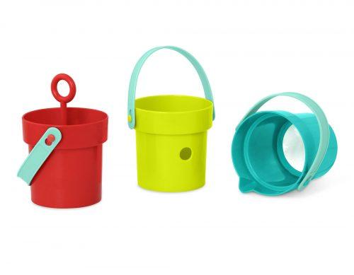 3 toy buckets.