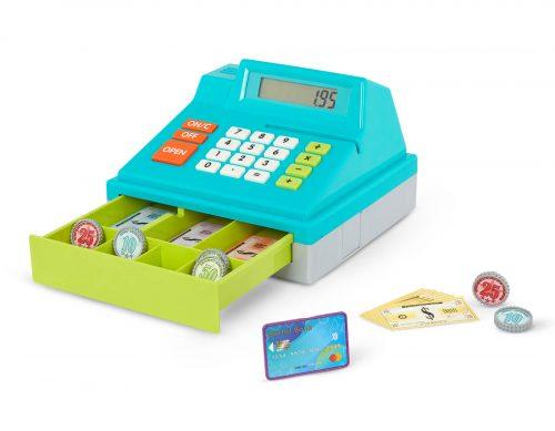 Toy cash register.