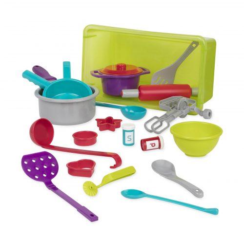 Toy kitchen accessories.