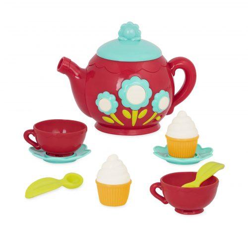 Toy tea set for kids.