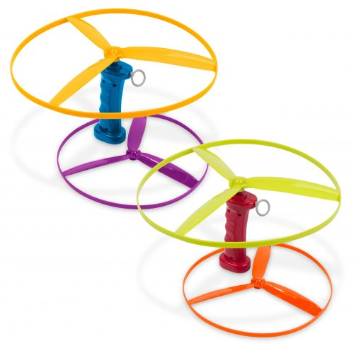 Flying disc toy.